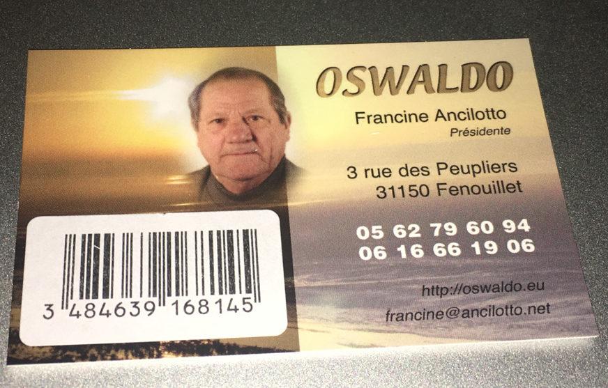 La carte Oswaldo Géant Casino Fenouillet est disponible
