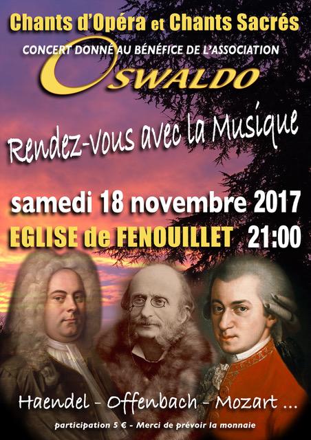 Concert de Soutien à Oswaldo le 18 novembre 2017